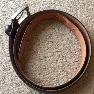 Cole Haan leather belt sz 90/36 silver buckle